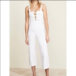 Clayton white denim  jumpsuit
